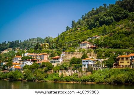 Douro Valley in Porto Portugal - stock photo