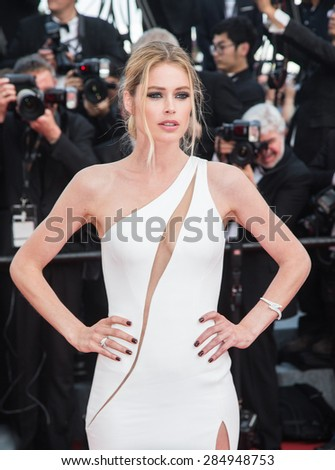 Doutzen Kroes attending the opening ceremony and premiere of La Tete Haute ( Standing Tall ) during the 68th annual Cannes Film Festival on May 13, 2015 in Cannes, France. - stock photo
