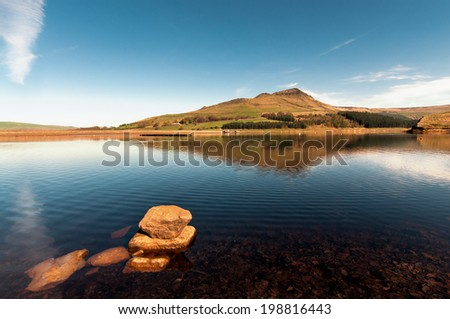 Dove Stone reservoir situated near the village of Greenfield, Saddleworth, Greater Manchester and on the edges of the Peak District National Park - stock photo
