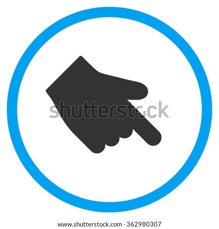 Down Right Index Finger Icon - stock photo