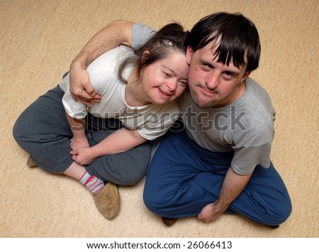 Down syndrome stock photos: love - stock photo