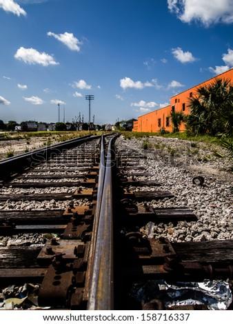 Down the Tracks - stock photo