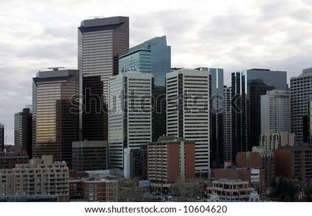 Down Town   Northern American Metropolis - stock photo