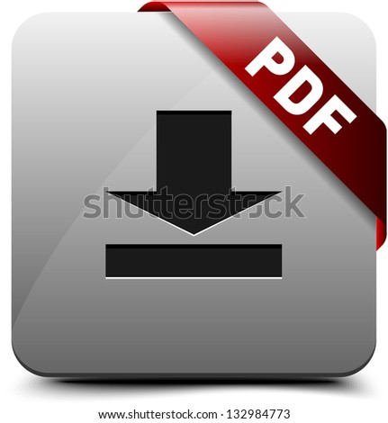 Download PDF button - stock photo
