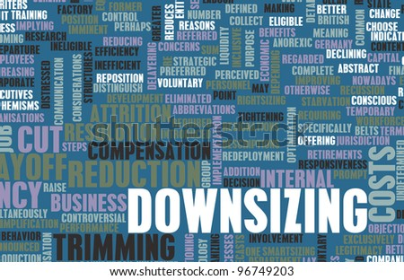 Downsizing of Job in the Corporate Workplace - stock photo
