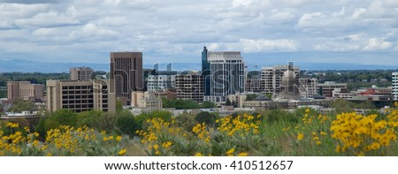 Downtown Boise, Idaho - stock photo