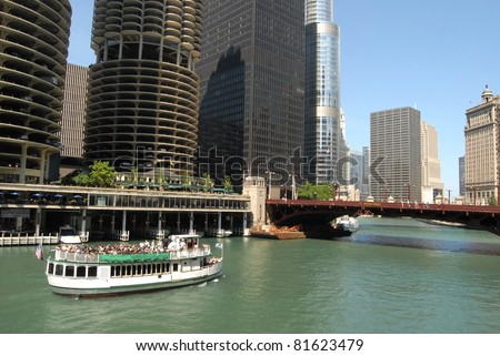 Downtown Chicago Waterfront, Illinois - stock photo