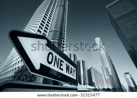 Downtown Los Angeles, California, USA - stock photo