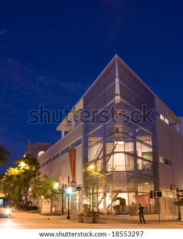 Downtown Madison State Street evening scene - stock photo