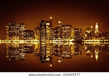 Downtown Manhattan, New York City - stock photo