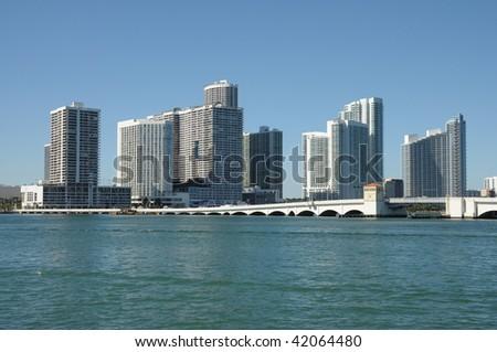 Downtown Miami Skyline, Florida USA - stock photo