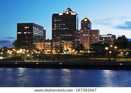 Downtown Milwaukee, Wisconsin. - stock photo