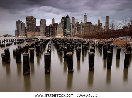Downtown New York - stock photo