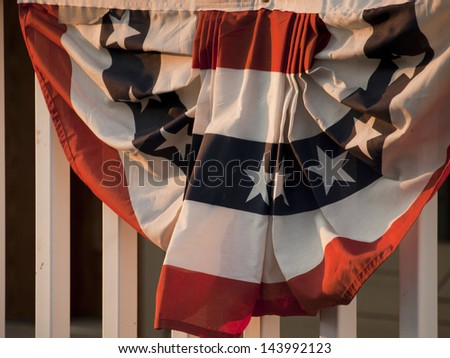 Downtown of Linglestown, Pennsylvania during 4th of July. - stock photo