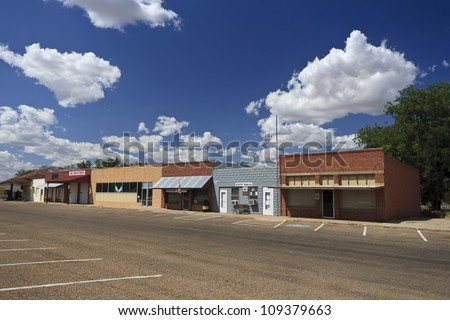 Downtown Roaring Springs, Texas, USA - stock photo