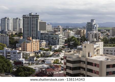 Downtown San Juan Puerto Rico cityscape. - stock photo