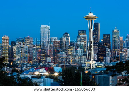 Downtown Seattle, Washington State - stock photo