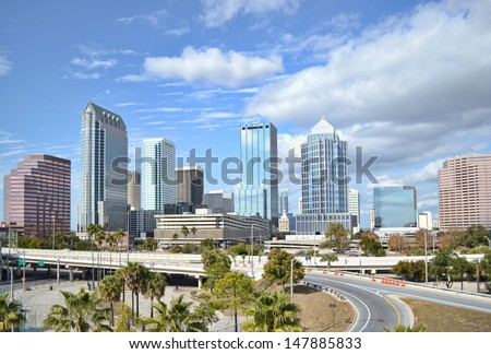 Downtown Tampa - stock photo