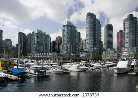 Downtown Vancouver. Coal Harbour - stock photo