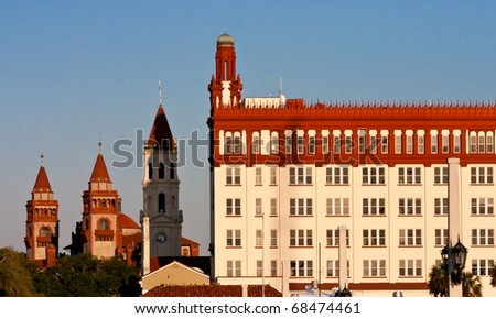 Downtown waterfront of St. Augustine Florida - stock photo
