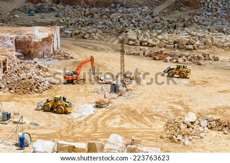 dozer excavator - stock photo