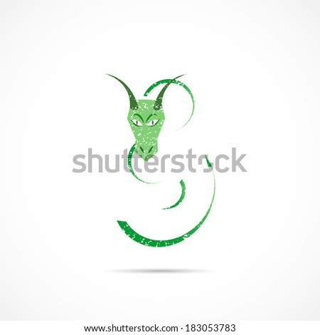 Dragon Abstract Illustration - stock photo