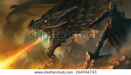 dragon master - stock photo