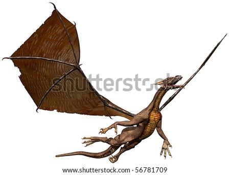 dragon take a flyght - stock photo