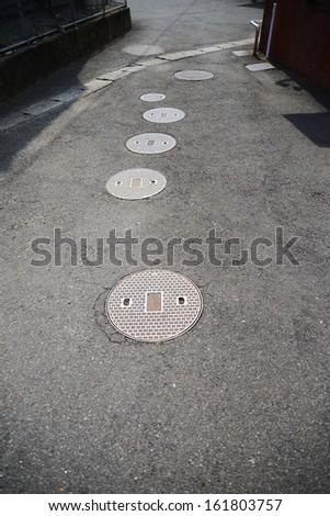drain cover - stock photo