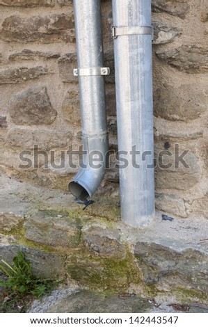 drain pipe for water - stock photo