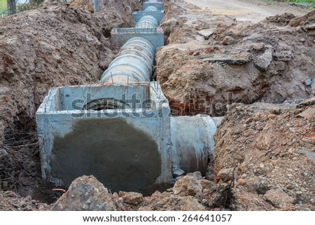 drainage - stock photo