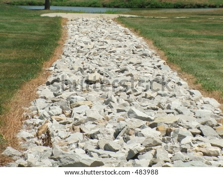 drainage ditch - stock photo