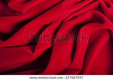 Dramatic Abstract Red Velvet Background - stock photo