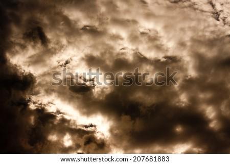 Dramatic Cloud - stock photo