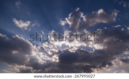 Dramatic clouds and sky - stock photo