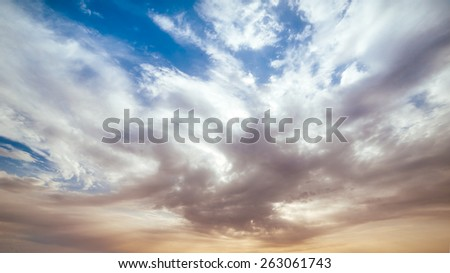 Dramatic sky - stock photo