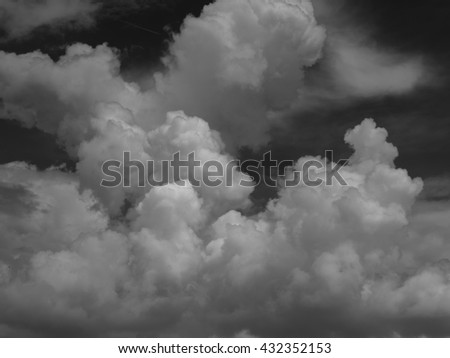 Dramatic sky clouds - stock photo