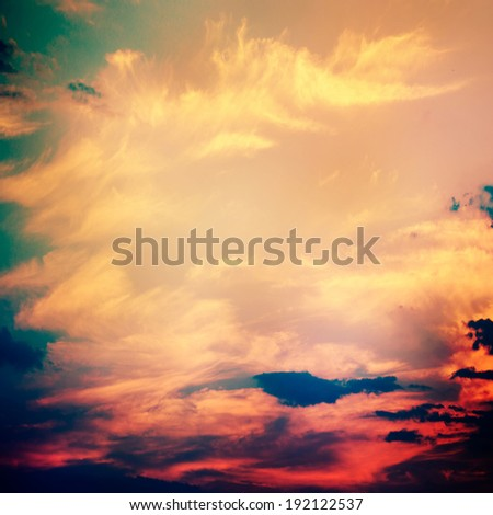 Dramatic Sky (cross-processed colors) - stock photo