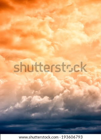 dramatic sky (67) with clouds - stock photo