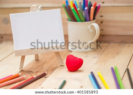 draw painting canvas empty space for text, love art background concept. - stock photo