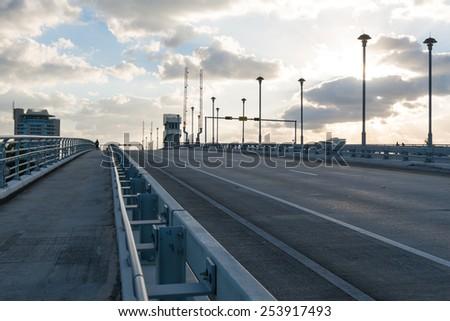 Drawbridge in early morning, Fort Lauderdale, Florida - stock photo