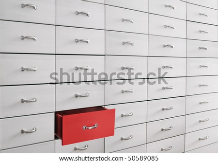 drawers - stock photo