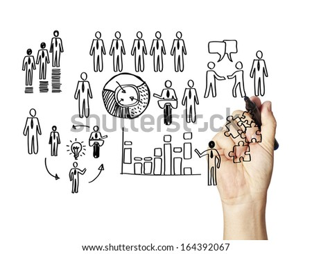 drawing Business Concepts - stock photo
