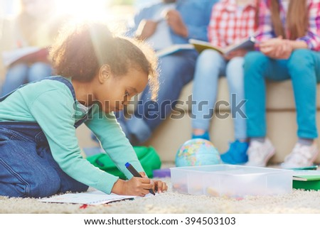 Drawing highlighter - stock photo