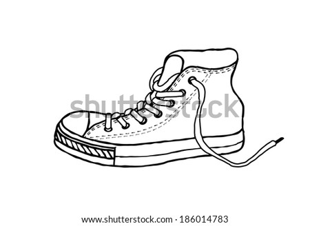 how to draw athletic shoes