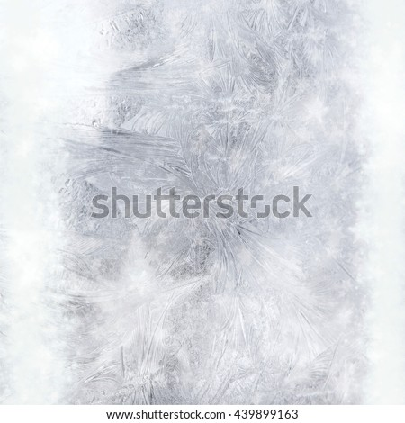 Drawing on a frozen window with stars bokeh lights - stock photo