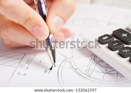 drawing sheet - stock photo