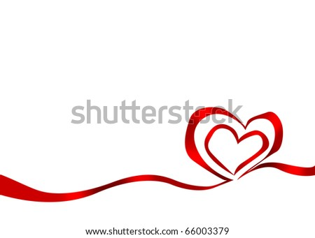 Drawing with hearts dedicated to St. Valentine's Day. Illustration. - stock photo