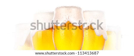dream about Frosty glass of beer on a white background - stock photo