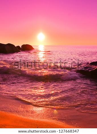 Dream Sea Stones - stock photo